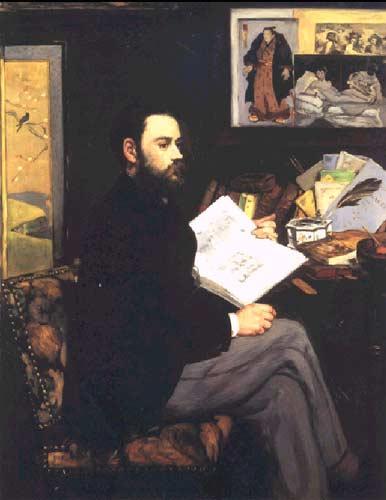 Портрет Эмиля Золя, 1868г.