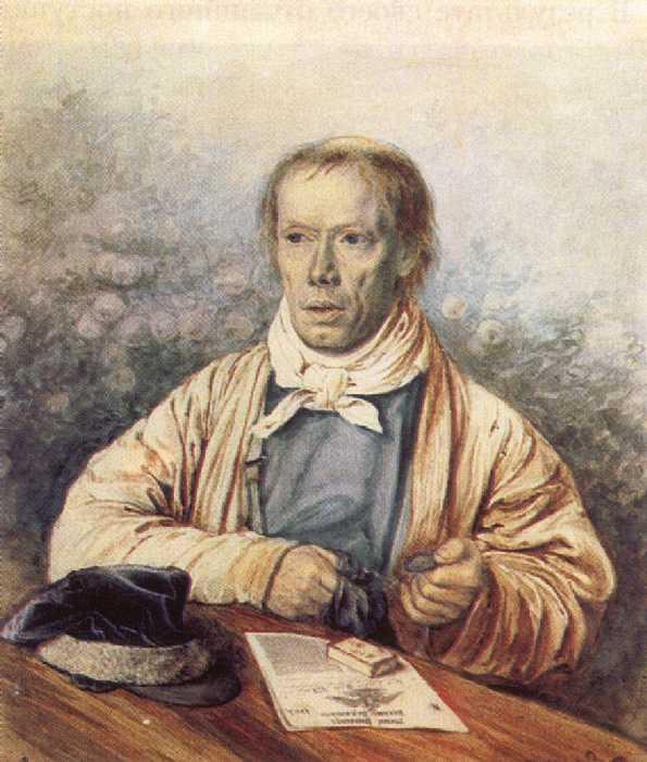 ... Федотова, отца художника. 1837. Акварель: staratel.com/pictures/ruspaint/big/646-2.htm