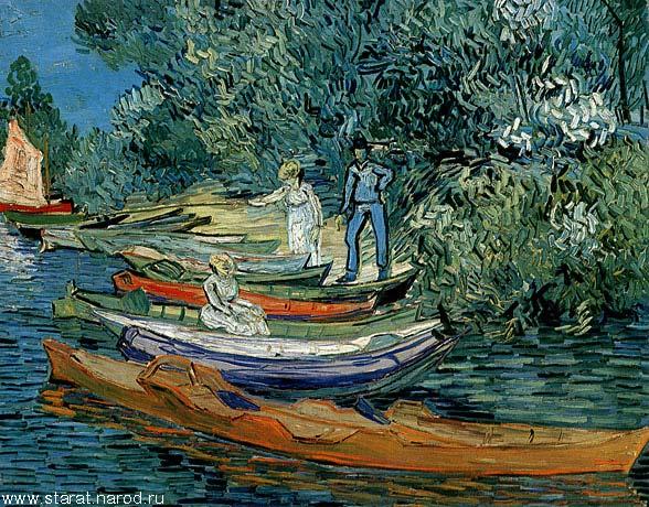 Берег реки уаз в овере 1890